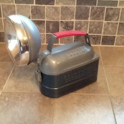 Vintage Metal Delta Power King 12v Lantern Flashlight