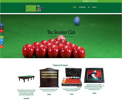 Fully Stocked/Automated SNOOKER business FREE Domain/Hosting. Up to £699 a sale!