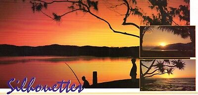 Sydney Hughes Postcard AP-50 -  Australia Sunrise & Sunset silhouettes unused