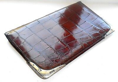 Antique Crocodile  Leather & Silver Wallet London 1899 - Sir John Kirk ~Explorer