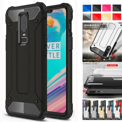 For One Plus 6/5T Shockproof Armor Case Thin Hybrid Rubber Hard Shell Cover Skin