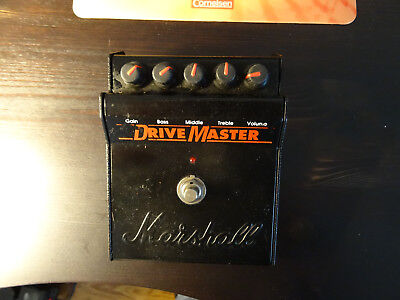 MARSHALL DRIVE MASTER DISTORTION / OVERDRIVE PEDAL, Made in England