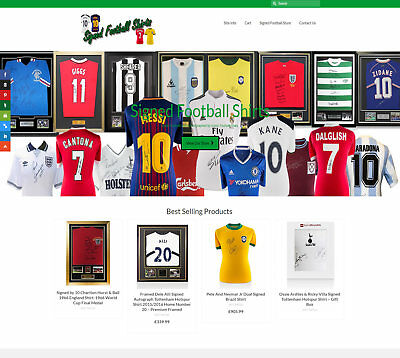 Automated SIGNED FOOTBALL SHIRTS business FREE Domain/Hosting Up to £199 a sale!