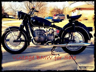 1965 BMW R-Series  BMW R50/2 Vintage German Motorcycle  | Solo Seats | Turn Signals | Free Shipping