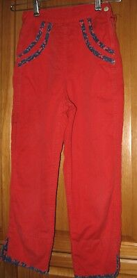 VINTAGE GIRL'S Red PANTS 1950's Flannel Lined