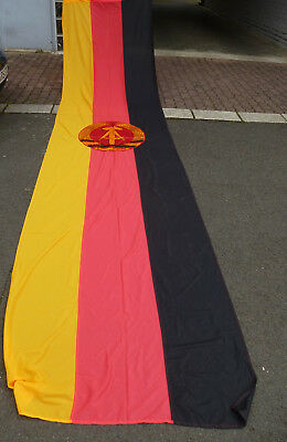 Original alte große DDR Staatsflagge Fahne / Flagge 480 x 120 cm