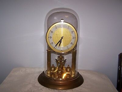 Vintage Brass Ks Germany Anniversary Clock For Parts Or Repair