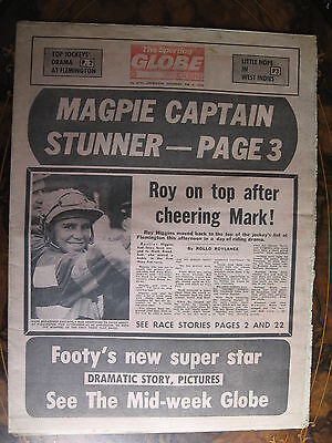 Sporting Globe FEB 4 1978 Roy Higgins Len Thompson Collingwood
