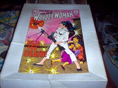 The New Wonder Woman # 189 Dc 1970 Red For Death Issue Look Vf+