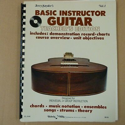 guitar JERRY SNYDER's Basic Instructor Vol 1 Teacher's Edition incl. Flexi Disc