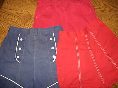 THREE VINTAGE GIRL'S 1950's - 1960's SHORTS PENNEY'S PERRY GIRLS
