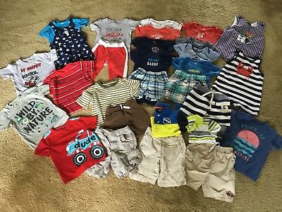 Huge Summer Lot Boys Nike Carters Gap Jumping Beans Janie & Jack  24 months 2T