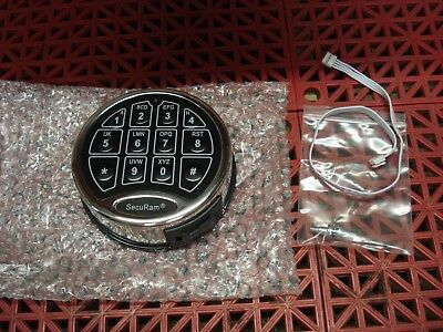 SecuRam EC-0601A SafeLogic Basic Safe Lock Entrypad Chrome & Black Keypad NEW
