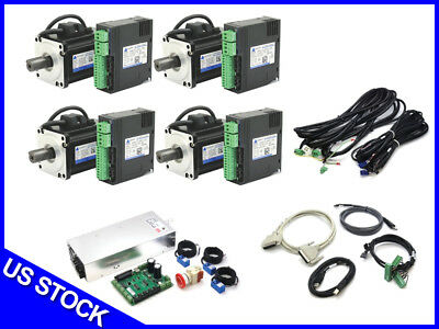 4-Axis DMM AC Servo CNC Kit / Router Mill Lathe Mach3 Conversion Retrofit NIB