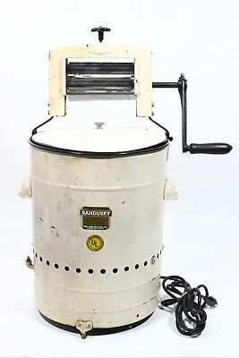 Very Rare Vintage Rebuilt Sandusky Electric Washing Machine & Wringer Model Ja