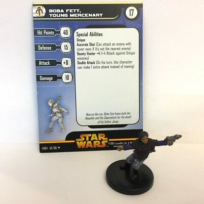 Star Wars Revenge of the Sith #42 Boba Fett, Young Mercenary (R) Miniature