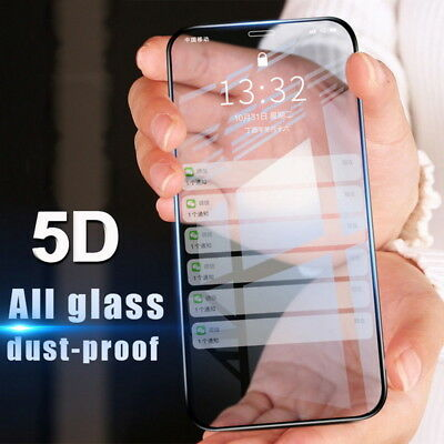 5D Curved Full Cover Tempered Glass Screen Protector Film For iPhone X XS Max Xr