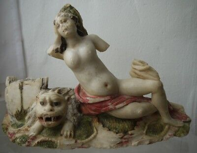 European alabaster figure of 'Africa' - the Allegory of the Four Continents'