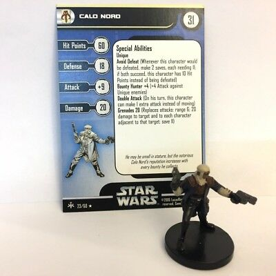 Star Wars Bounty Hunters #23 Calo Nord (R) Miniature