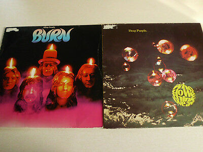 2x DEEP PURPLE -Burn & Who do we think we are- LP´s/Rock!! v/g+++/1x mit Beilage