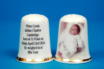 Prince Louis 3rd Child To Prince William & Kate b.April 23rd 2018 Thimble B/41