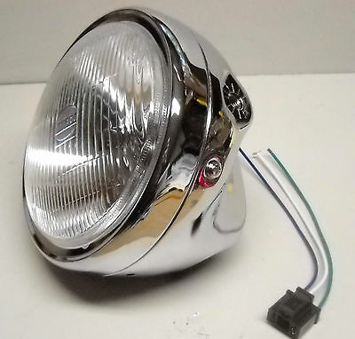 CB650 CB750 CB900 GL1100 Honda Chrome Halogen Motorcycle Headlight Assembly