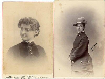 WHOLESALE LOT OF 132 CABINET PHOTOGRAPHS 1870 to 1900