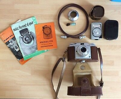 Agfa Compur Rapid Vintage Camera & Accessories, Case/light Metre/lens/books!!