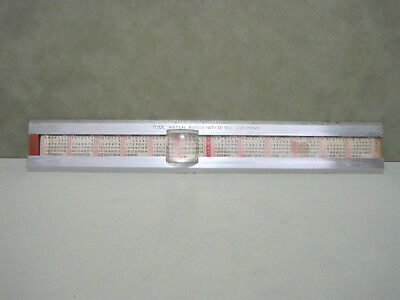 Tidewater Associated Oil Co 14.25 Inch Aluminum Ruler with Dates 1947, 48 & 50