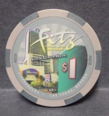 Casino Chips $1 Fitz Las Vegas Nevada  Poker Chip Obsolete
