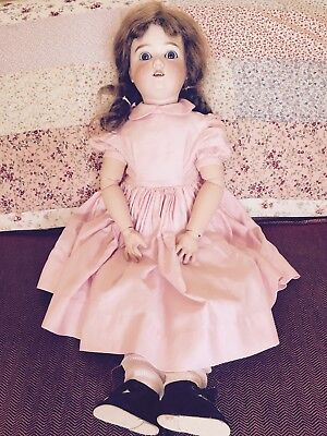 Kley & Hahn Antique Doll In Pink