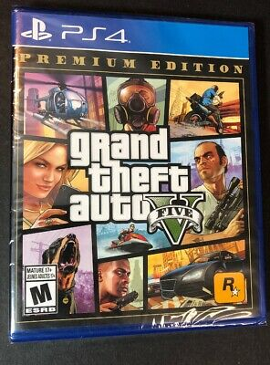 Grand Theft Auto V Premium Edition [ GTA V / GTA 5 Online ] (PS4) NEW