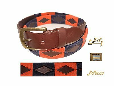 B.P. Polo Belt Argentinian Stitched Leather,the best artisan quality, handmade