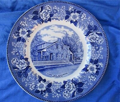 English Staffordshire Ware General Lee's Headquarters Gettysburg China Plate