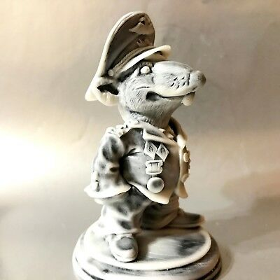Rat Nazi Warlord army Colonel marble chips Figurine Souvenirs from Russia