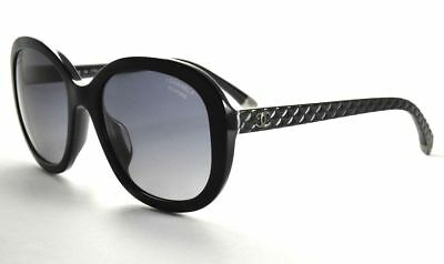 23b7e56f49895 CHANEL 5328 501 S8 Black Quilted   Gray Polaraized Sunglasses ...