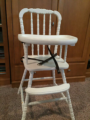 Jenny Lind STYLE Wooden Highchair High Chair in WHITE