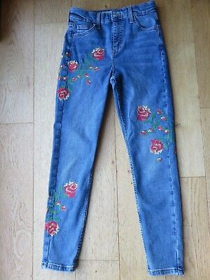 Top Shop Embroidered Jamie Jeans Size W25 L30