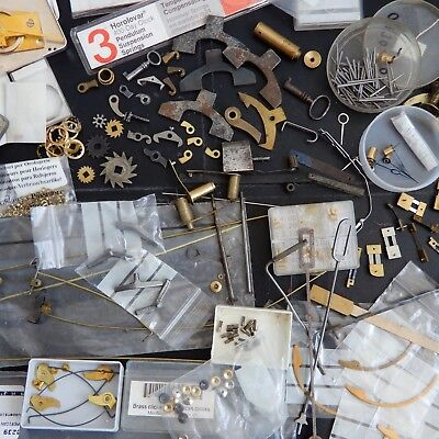 CLOCK PARTS Carriage Hands Pallets Gathering Longcase Escapement Bush Clicks etc