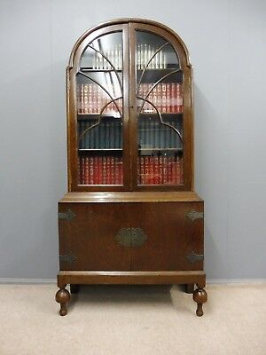 Oak Dome Top Bookcase Circa 1920