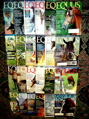 Lot Of 24~Equus Horse Magazines~Back Issues 267-278 & 291-302~Years 2000 & 2002