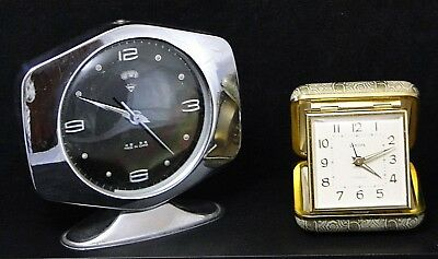 Set Of 2 Alarm Clocks Europe 2 Jewels Ref 2530 No. 5140 Made In China Vintage