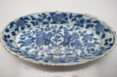 Antique Chinese Porcelain  Dish Blue White