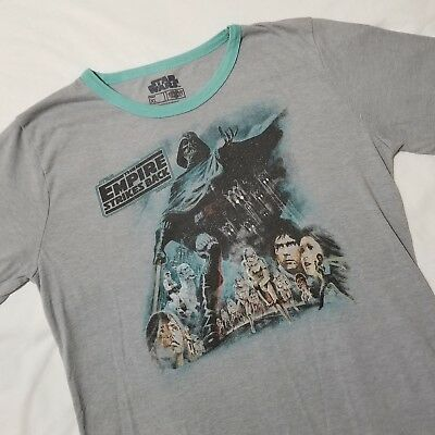 c5c62d5682c Star Wars Juniors Empire Strikes Back Tshirt XL Gray Ringer Graphic Fifth  Sun