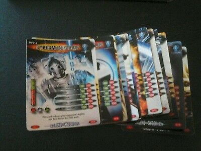 Dr who battles in time Daleks vs cybermen cards 1 to 16