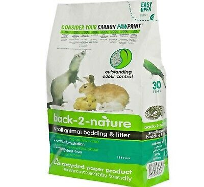 SMALL ANIMAL BEDDING & LITTER - (10L - 30L) - Back 2 Nature Pet Paper bp Pellets