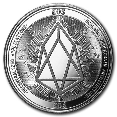 Bitcoin Cryptocurrency EOS - In Code We Trust 1 oz .999 Silver USA BU Round