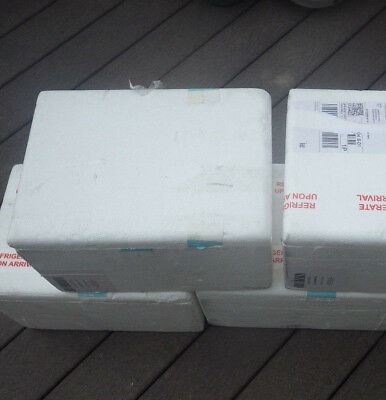 4 Styrofoam Insulated Shipping Box Coolers 9x11x15
