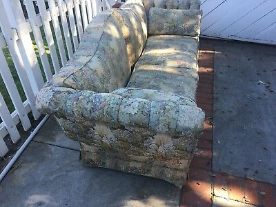 **Beautiful Antique, Sturdy, Light Color, Tapestry Couch/Sofa**