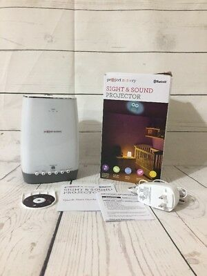 Project Nursery Sight & Sound Projector Sleep Soother Projector with Bluetooth